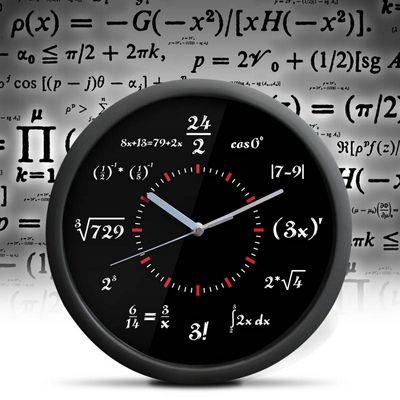 Matematické hodiny černé