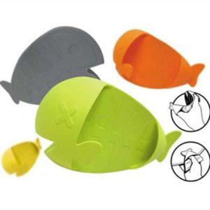 Silikonová chňapka ryba - žlutá