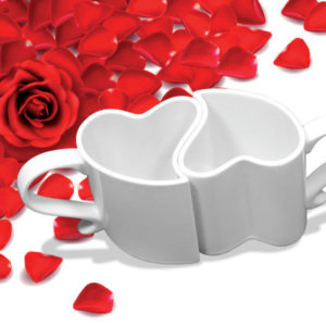 Zamilované hrnečky - bílé