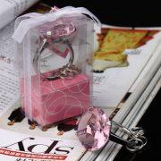 Přívěsek diamant - růžový