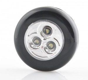 Samolepící lampička 3 LED černá