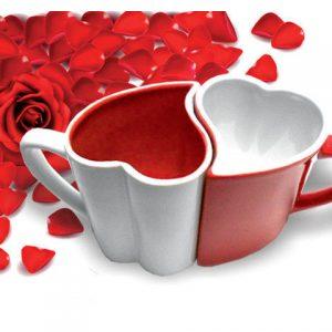 Zamilované hrnečky - bílo-červené