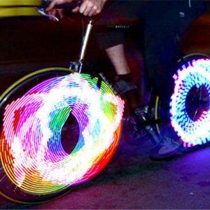 LED světlo do výpletu kola